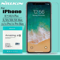 for iPhone 11 Pro Max X Xr Xs Max Glass Screen Protector Nillkin 9H Hard Clear Safety Tempered Glass for iPhone 8 7 6s 6 Plus
