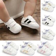 Модная мягкая подошва для малышей на застежке-липучке, тапочки для малышей для маленьких мальчиков и девочек детская обувь, новорожденные Кожаные Спортивные Non-slip подошвой обуви