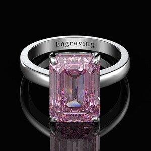 Image 3 - Wong Regen Classic 100% 925 Sterling Zilver Gemaakt Moissanite Edelsteen Wedding Engagement Diamanten Ring Fijne Sieraden Groothandel