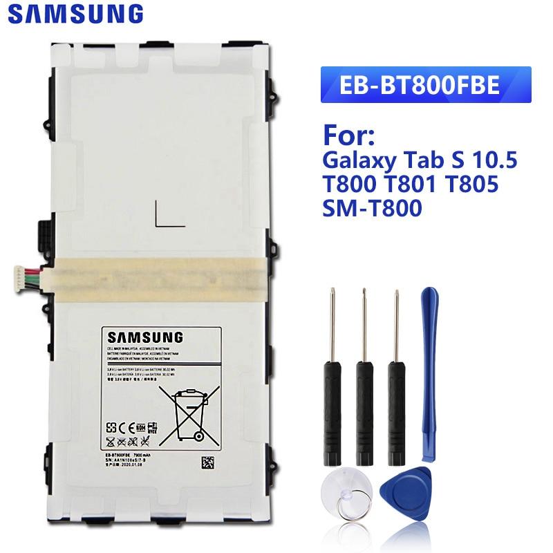 SAMSUNG Original Replacement Battery EB-BT800FBE For GALAXY Tab S 10.5 Samsung T800 T801 T805  SM-T805C T807 EB-BT800FBC/FBU