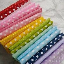 Zengia 50x160cm pequena sarja de algodão de bolinhas para fazer roupas infantis vestuário material foto pano de fundo diy