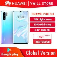 Global Version Huawei P30 Pro MobilePhone 6.47 inch Kirin 980 Octa Core 8GB 256GB in-screen 40MP 4200mAh NFC 40W supercharge