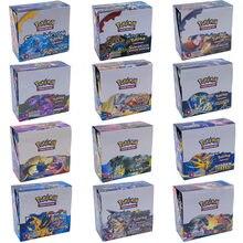 324 sztuk/pudło 15 styl Pokemon karty słońce i księżyc ukryte losy angielski Evolutions Booster kolekcjonerska handlowa gra karciana zabawka dla dzieci