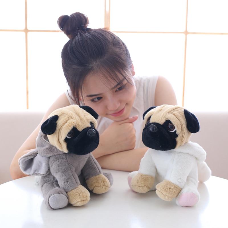 New 20CM Stuffed Simulation Dogs Plush Sharpei Pug Lovely Puppy Pet Toy Plush Animal Toy Children Kids Birthday Christmas Gifts