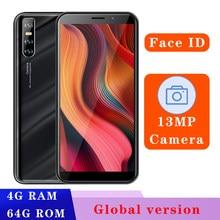 V20 versão global quad core 4gb ram 64gb smartphones celulares desbloqueado face id 13mp hd câmera telefones celulares android 3g wifi