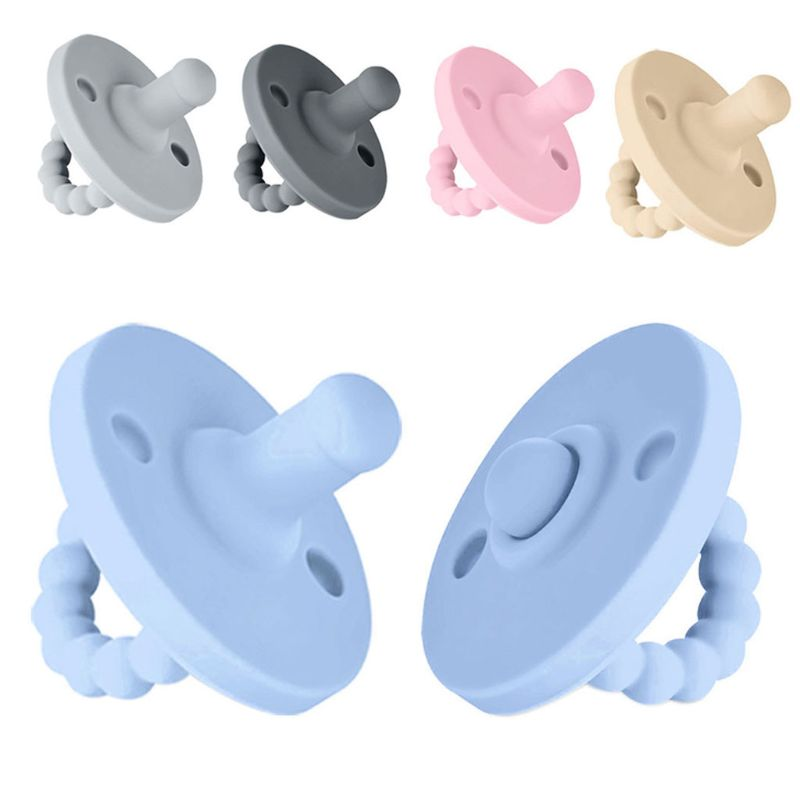Newborn Baby Soft Silicone Round Orthodontic Dummy Pacifier Teat Nipple Soother Silicone Thumb Play Mouth Children Care Supplies