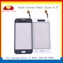 10Pcs/lot For Samsung Galaxy J1 DUOS J100 SM-J100H Touch Screen Digitizer Panel Sensor Front j100h LCD Glass