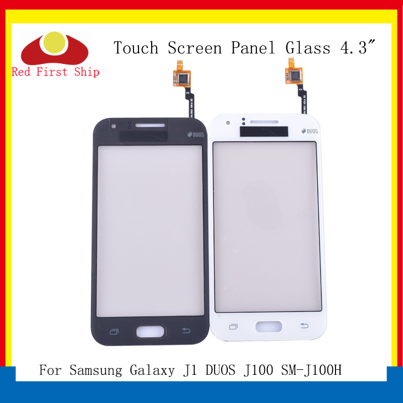 10Pcs/lot For Samsung Galaxy For Samsung Galaxy J1 DUOS <font><b>J100</b></font> SM-J100H <font><b>Touch</b></font> <font><b>Screen</b></font> Digitizer Panel Sensor Front j100h LCD Glass image