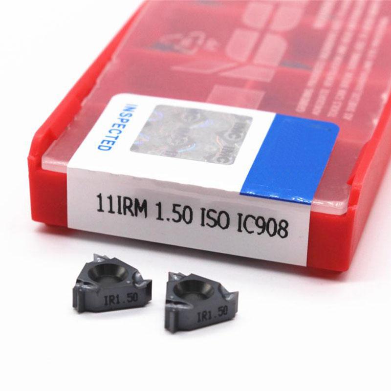10pcs 11IR M 1.0 1.5 2.0 ISO Carbide Inserts  Thread Blade Cnc Lathe Threading Cutter Tool