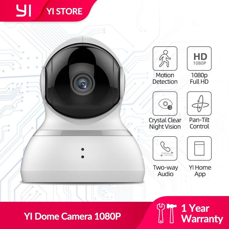 Yi dome камера 1080P панорамирование/наклон/зум Беспроводная IP система видеонаблюдения Полный 360 градусов покрытия ночного видения белый