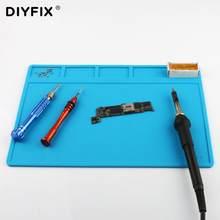 DIYFIX S-110 wielofunkcyjna naprawa telefonu komórkowego stół warsztatowy podkładka izolacyjna Hot wiatrówka stacja lutownicza silikon termiczny Mat