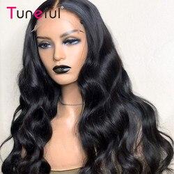 5x5 Lace Closure Wigs Human Hair Body Wave Tuneful 30 40 long Inch 100% Peruvian Remy Human Hair Closure Wigs For Women