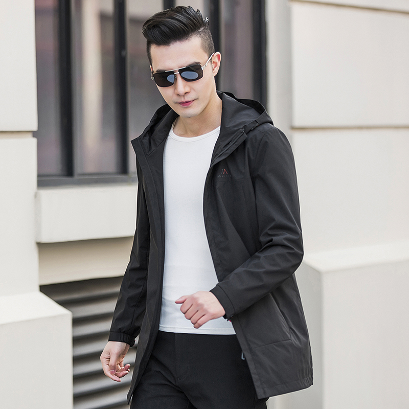 Paragraph Lang Legendary 2019 new men hooded coat men trench overcoat standard conventional coat camouflage in Trench from Men 39 s Clothing