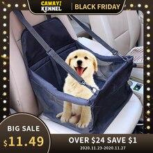 Cawayi canil cão de viagem assento do carro capa dobrável rede pet portadores saco transporte para cães gatos perro autostoel hond