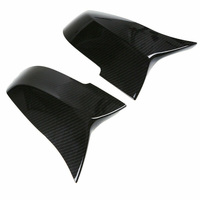 2 Pcs Black Carbon Fiber Side Mirror Cap Mirror Cover High Quality For BMW M3 F20 F30 F34 F36 Rearview Mirror Covers Accessories