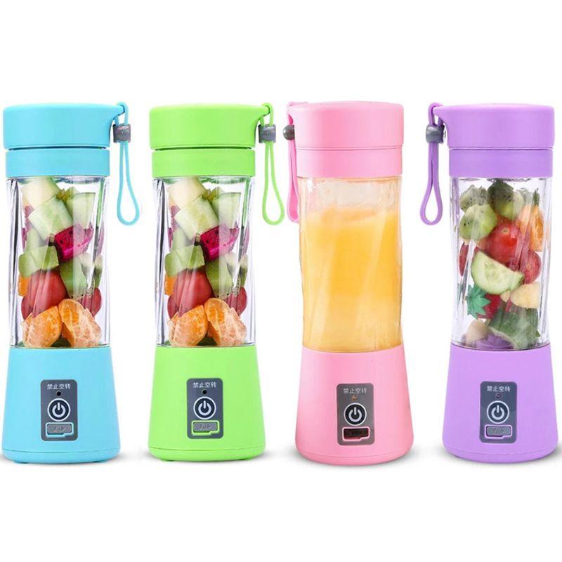 Protable Mini Juicer Cup Single Serve Personal Size Blender USB Recharge 380ml Fruit Mixing Machine Multifunction Juice Making K