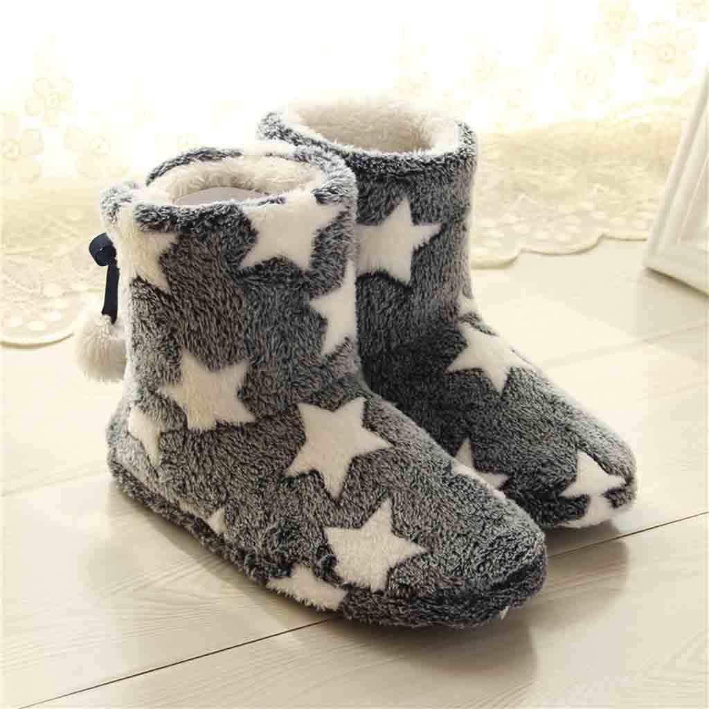 รองเท้าผู้หญิงรองเท้าแตะภายในผ้าฝ้ายฤดูหนาว Soft WARM ฤดูหนาว Mute น่ารัก Soft Plush ผู้หญิงภายใน
