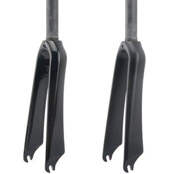 """Carbon Fiber Fork Folding BMX Bike Fork Bicycle Parts V Brake 14 16 18 20 22""""inch Axle width 74mm or 100mm"""