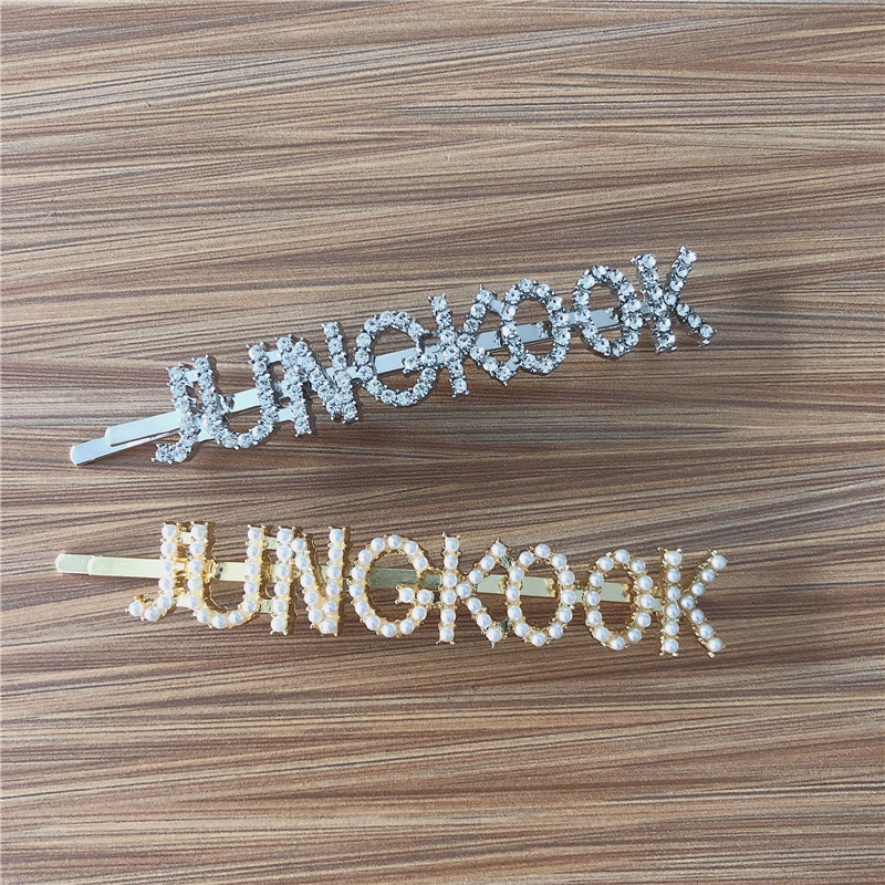 New Fashion Hair Pins JHOPE JUNG KOOK Hairpin Hair Jewelry Headband Hair Jewelry Bangtan Boys Accessories Gift in Hair Jewelry from Jewelry Accessories