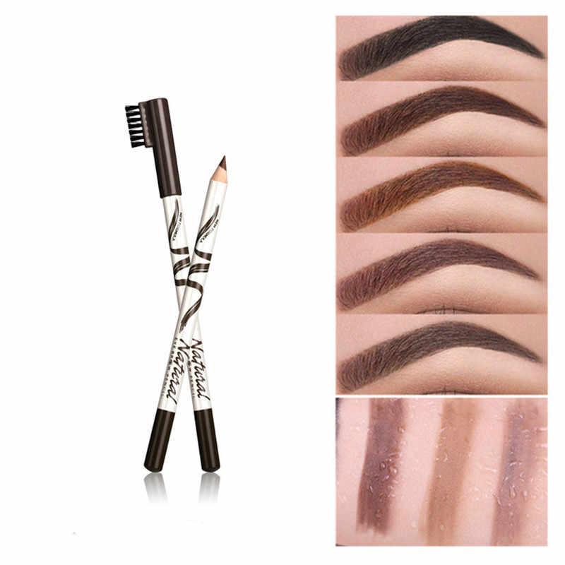 1pc maquiagem sobrancelha lápis com escova sobrancelha marcador à prova dwaterproof água sobrancelha tatuagem para sobrancelhas enhancer tintura caneta longa duração