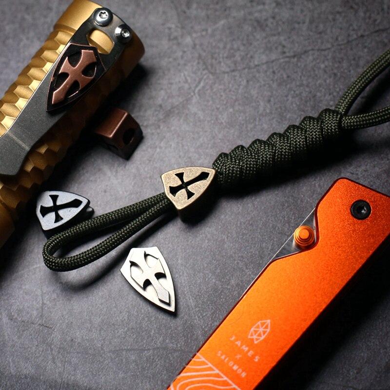 Mack Walker Titanium alloy copper Brass EDC Crusade with Screws Flashlight clip Outdoor knife Tool pendant Accessories EDC(China)