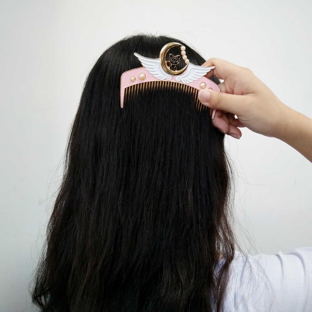5 estilos bonito dos desenhos animados sailor moon maquiagem pente escova de cabelo meninas pente de cabelo alta qualidade meninas cabeleireiro