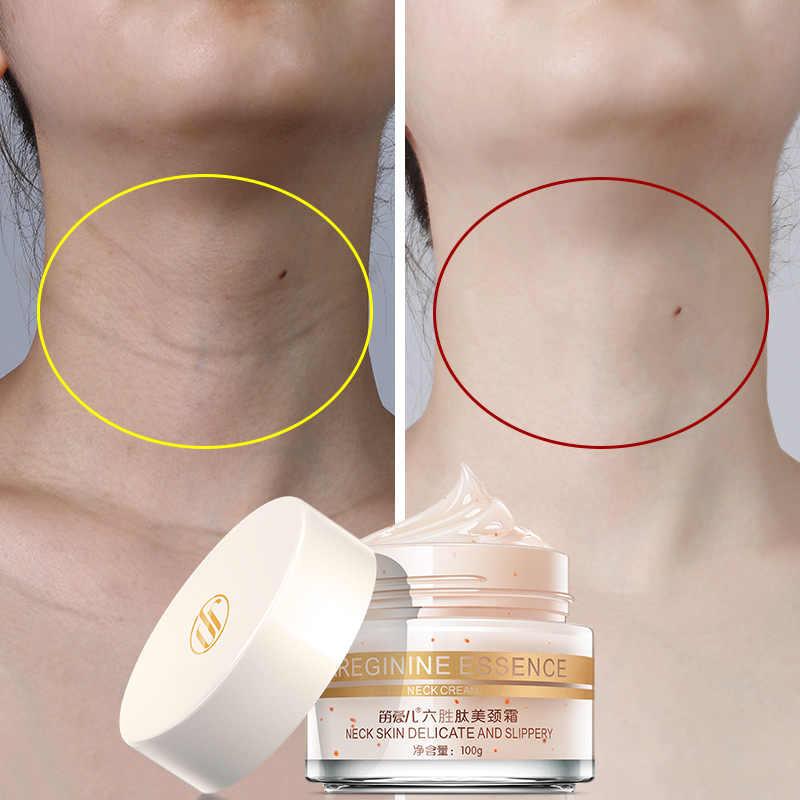 100 г шесть пептидов крем для шеи против морщин удаляет шею отбеливающая маска укрепляющая для шеи маски уход за кожей деликатная и скользкая