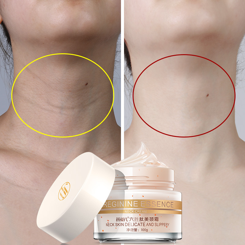 Daralis 100g Six Peptides Anti Wrinkles Neck Cream Whitening Lifting Mask Firming for Neckline Skin Care Delicate and Slippery