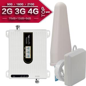 Image 1 - Amplificador de señal de teléfono móvil 2G, 3G, 4G, Triple banda, 70dB, GSM, 900, LTE, 1800, WCDMA, 2100 mhz