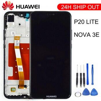 2280*1080 Original Quality LCD With Frame For HUAWEI P20 Lite Lcd Display Screen For HUAWEI P20 Lite ANE-LX1 ANE-LX3 Nova 3e 1
