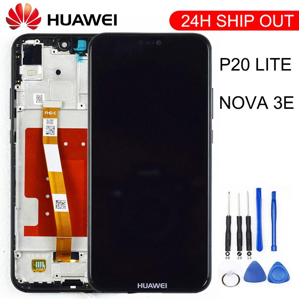 2280*1080 huawei p20 lite를위한 구조를 가진 본래 질 lcd huawei p20 lite를위한 lcd 전시 화면 ANE-LX1 ANE-LX3 nova 3e