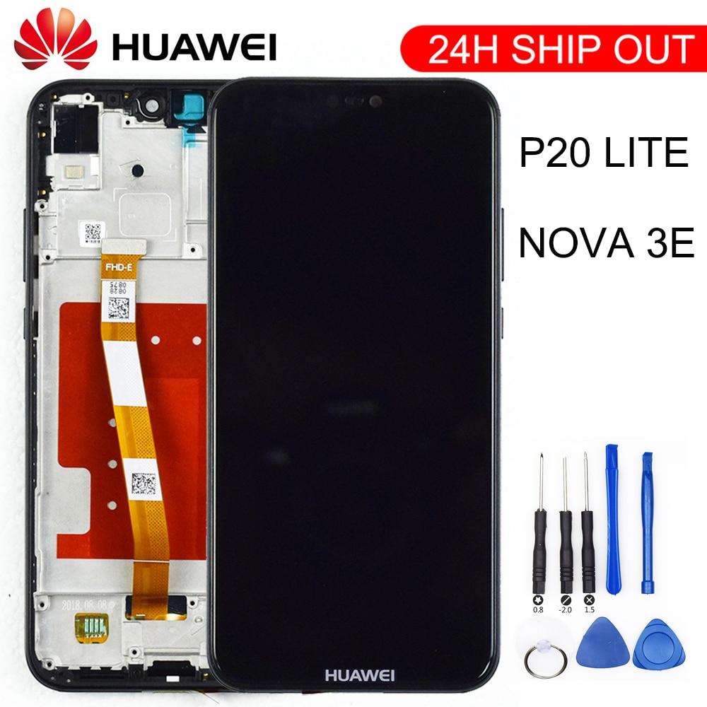 2280*1080 qualidade original lcd com moldura para huawei p20 lite tela lcd para huawei p20 lite ANE-LX1 ANE-LX3 nova 3e
