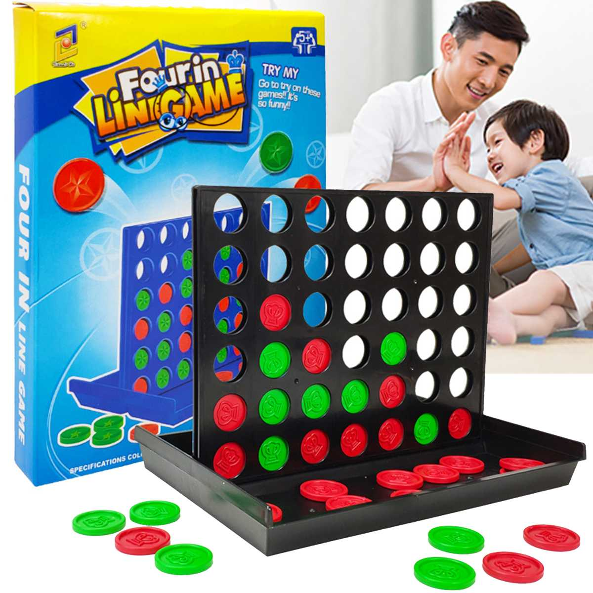 Newest Connect 4 Game Classic Masters Foldable Kids Children Line Up Row Board Puzzle Toys Gifts Board Game 25x19.5x20cm