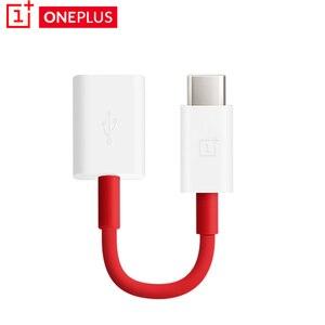 Оригинальный кабель OnePlus 8 7T 7 pro 6t 6 3t 5 5T Type C OTG USB-C адаптер для передачи данных otg с поддержкой флеш-накопителя/U 1 + 3 3t 5 6 7pro