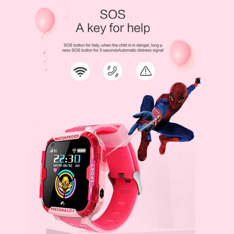 LIGE لتحديد المواقع الأطفال ساعة ذكية 4G للأطفال ساعة ذكية لتحديد المواقع مكافحة خسر ساعة ذكية تعمل بالواي فاي مكالمة فيديو طفل ساعة ذكية لتتبع الأطفال هدية