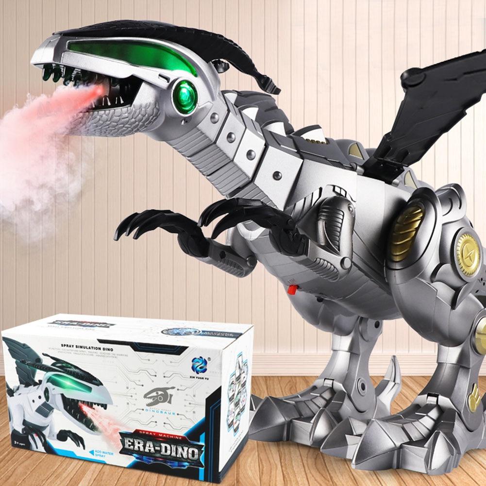 Toy Gifts Sound Boy Swing Kids Dinosaur Robot Electric Machine Light Spray