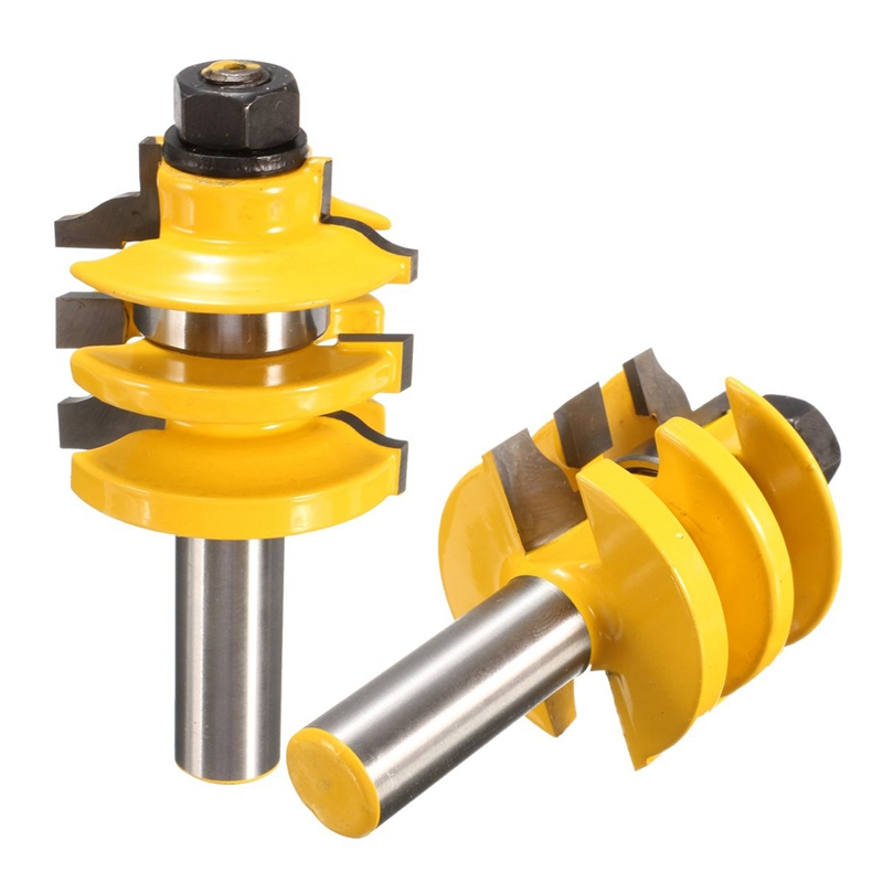 "Stacked Rail Router Bit - 1/2"" Shank For wooden door frames Woodworking tools Durable"
