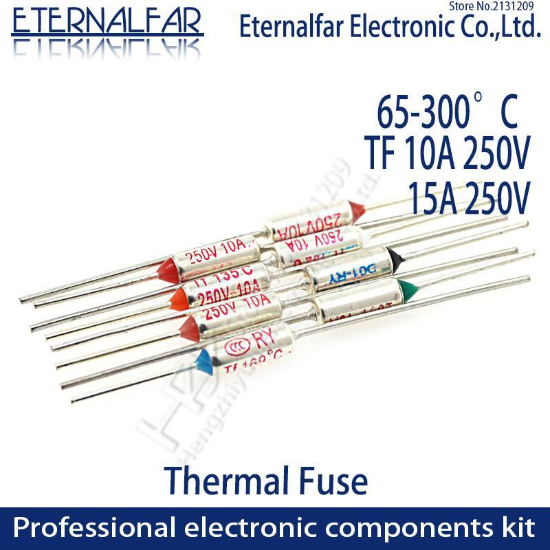 5 pieces Thermal Fuse tf210 ° C 250v 10a PCE