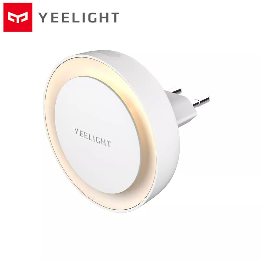 Xiaomi Mijia Yeelight Plug-in LED Night Light Round Wall Lamp With Light Sensor - EU Plug - White