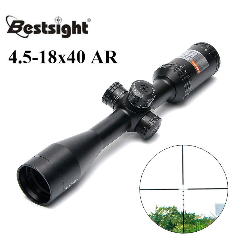 4 5 18x40 BDC Tactical Rifle Scope Outdoor Reticle Optic Sight Cross Riflescope Long Distance Hunting