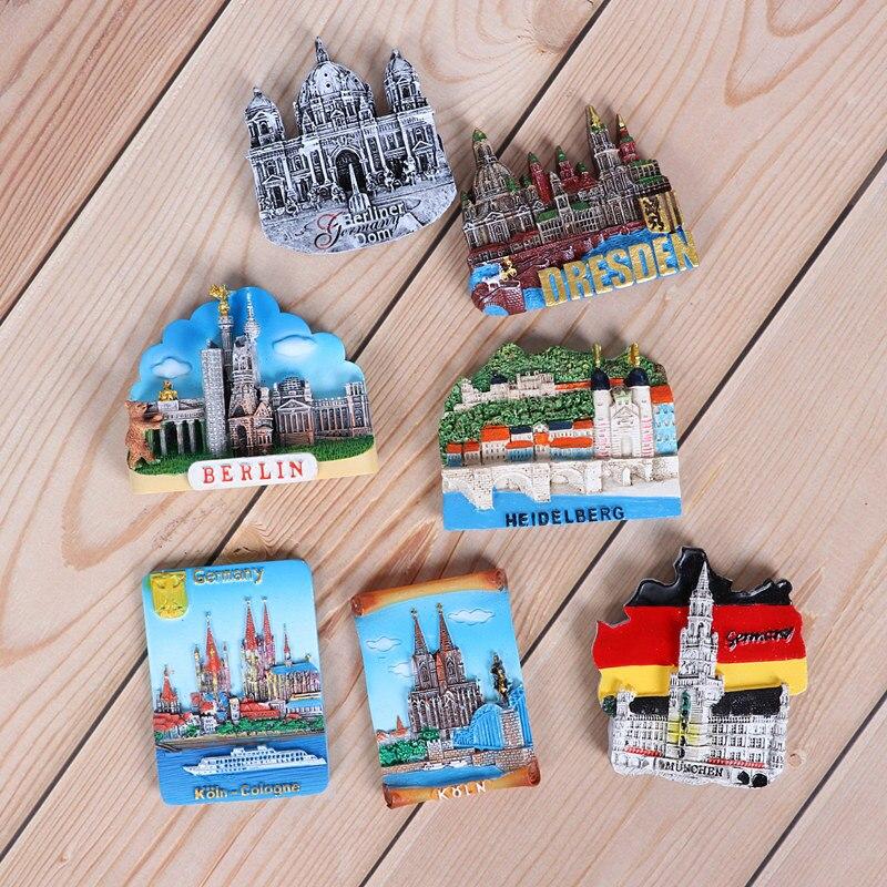 Немецкий холодильник наклеенный Берлинский строительный магнит наклеенный 3d магниты на холодильник Heidelberg Cologne Cathedral World tourism сувениры Магниты на холодильник      АлиЭкспресс