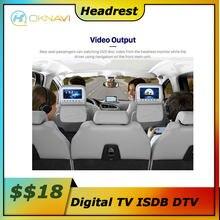 Carro buit no encosto de cabeça função de vídeo para fora não enviar um módulo separado para a função link tv digital isdb dtv