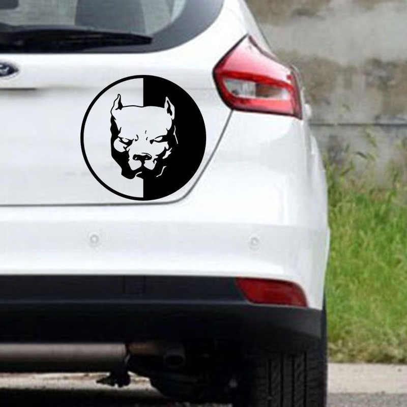 Bulldog Stiker Mobil Reflektif Stiker Lucu Tahan Air Pitbull Anjing Mobil Stiker Dekorasi Auto Styling Aksesoris Truk 12X12 Cm
