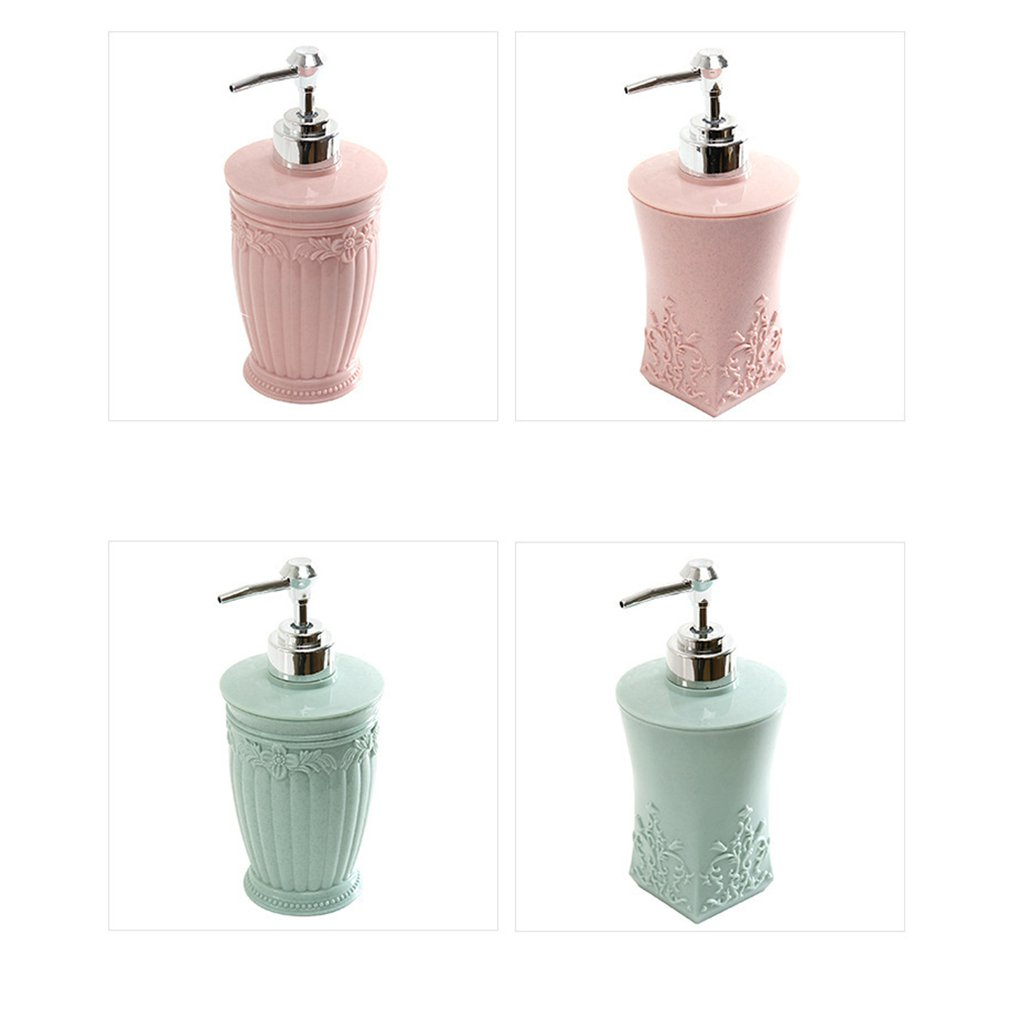 European Style Hand Sanitizer Bottles Float Carving Liquid Soap Dispenser Simple Shampoo Shower Gel Press Hand Bottle