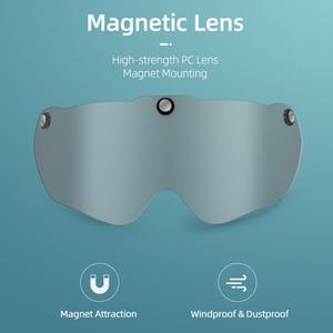 Image 5 - ROCKBROS casco de bicicleta para hombre y mujer, moldeado integralmente, transpirable, gafas, lentes Aero, MTB, Casco de Bicicleta de carretera