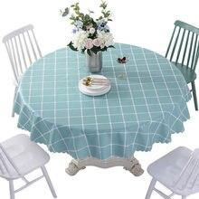 Круглая скатерть ПВХ чехол на стол для кухни чайного столика