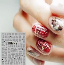 Новые серии письма Ханьи-393-398 руки красочный мультфильм дизайн 3D ногтей наклейки наклейка аксессуары