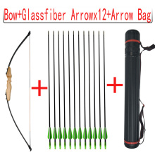 1set 40lbs Recurve Bow 51inch Straight With 12pcs Fiberglass Arrows And Arrow Bag Hunting Shooting Accessories