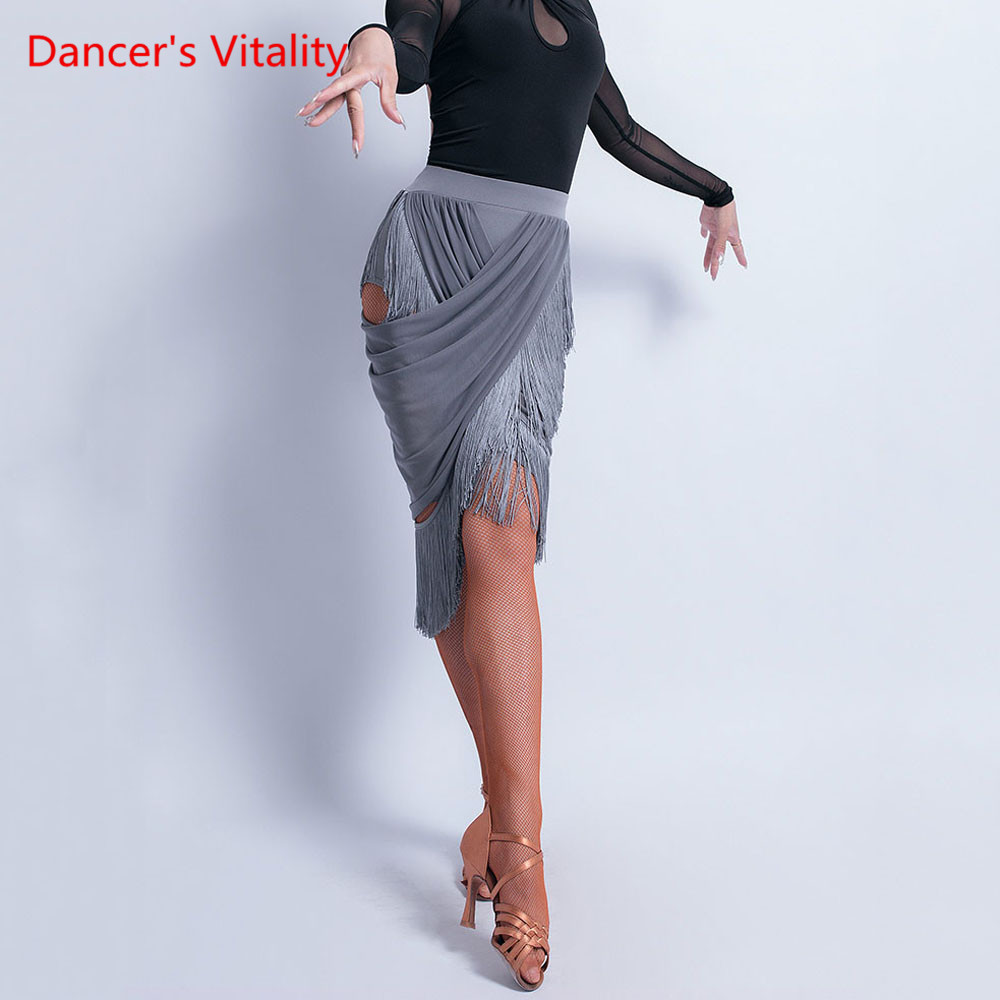 Latin Dance Performance Practice Clothes Female Adult Sexy Skirt New Tassel Rumba Cha Cha Dancing Competition Clothing