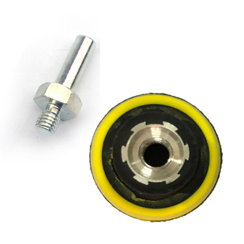 2 Pcs 50 Mm Soft Foam Back-up Sanding Pad + 6 Mm Shank Sander Parts Rotary Power Tools For Polishing